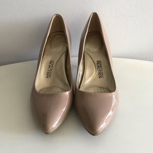 Kenneth Cole Reaction Patent Nude Pumps